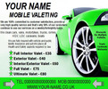 mobile valeting flyers,leaflet,business cards Templates