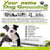 Dog grooming Business Templates forms
