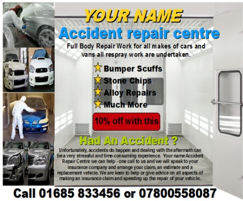Product picture accident repair centre business templates