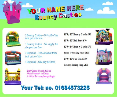 Product picture Bouncy Castle Business Templates forms