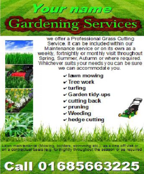 Product picture Gardening Services Business Templates