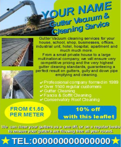 Product picture Gutter Vacuum & Cleaning Business Templates