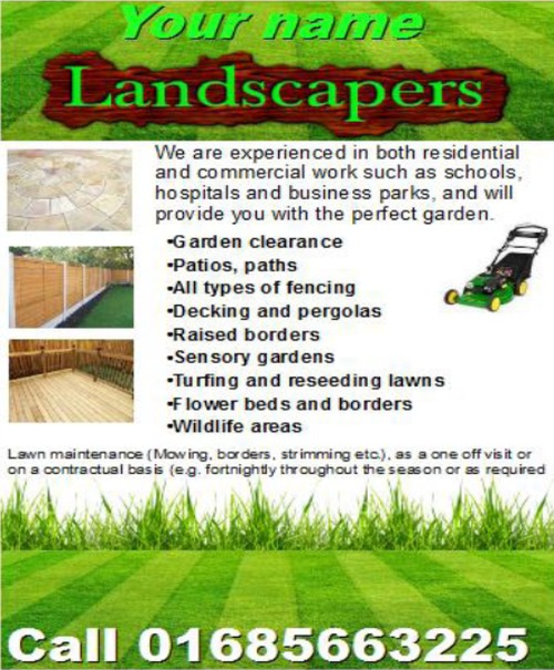Product picture landscapers Business Templates forms