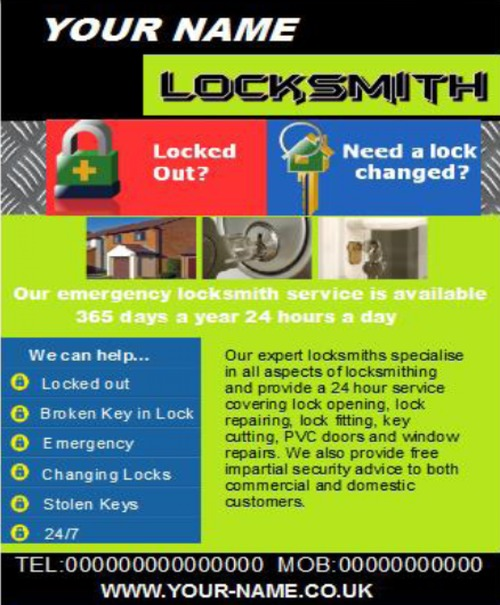 Product picture locksmith Business Templates forms