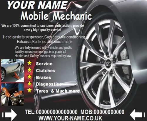 Product picture mobile mechanic Business Templates forms