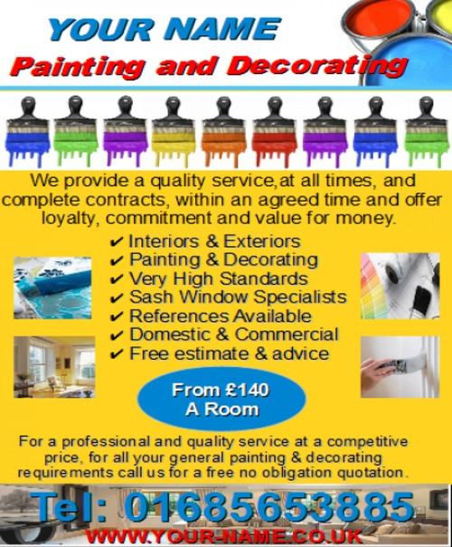 Product picture Painting and Decorating Business Templates