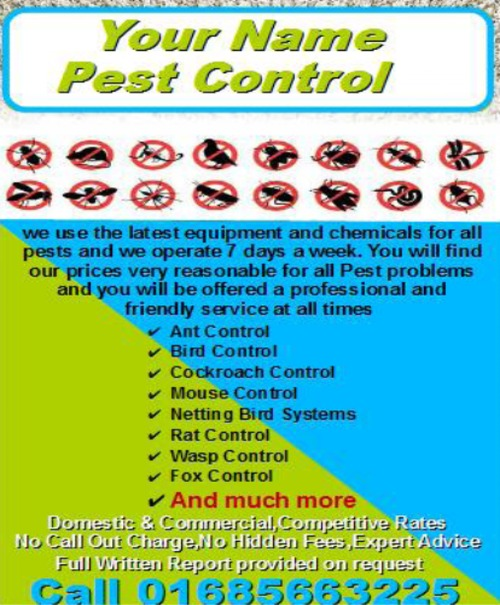 Product picture pest control Business Templates