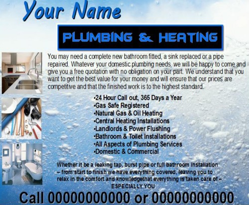 Product picture plumbing Business Templates